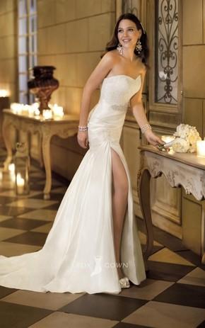 sexy-strapless-sweetheart-lace-bodice-a-line-split-draped-weddin_phixr